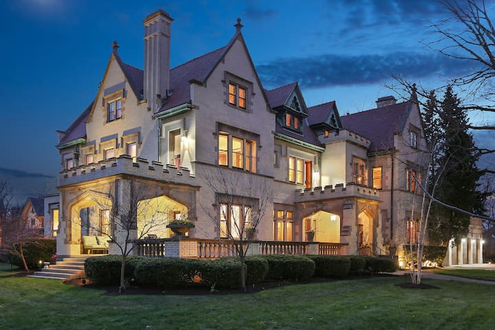 Castle-like, Revival Tudor, International Mansion