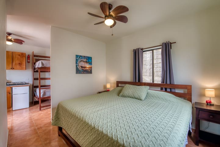 King size bed in casita