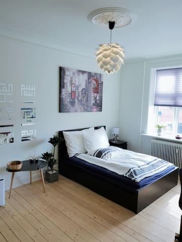 Stort værelse i herskabslejlighed i Aalborg C
