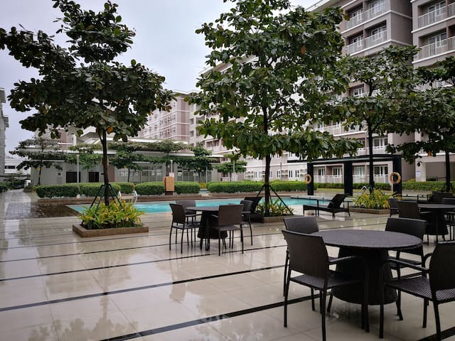1BR Fully furnished unit rent at Trees Residences