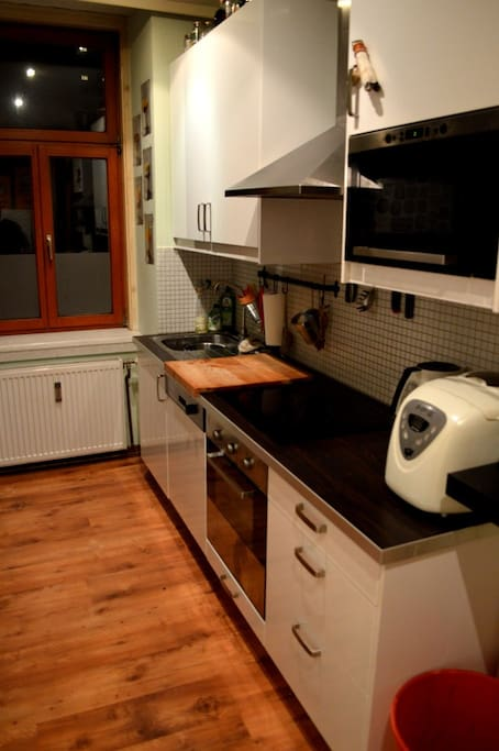 The kitchen, fully equipped w/ microwave, toaster, coffe-mashine, etc.