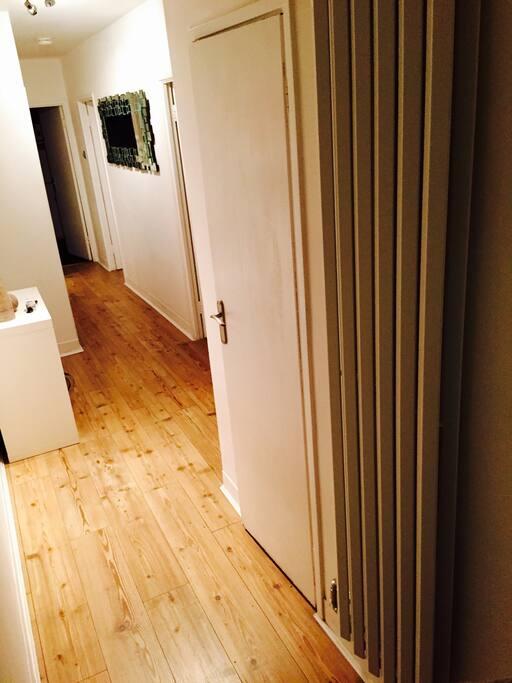 The corridor and entrance....