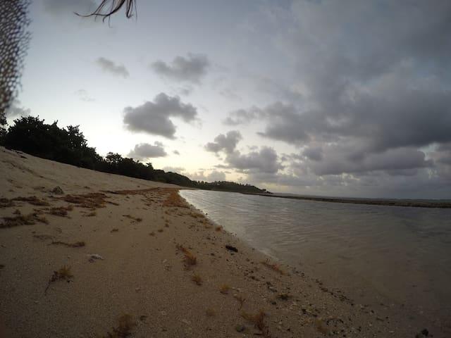 Tombée du jour à la plage des Dauphins