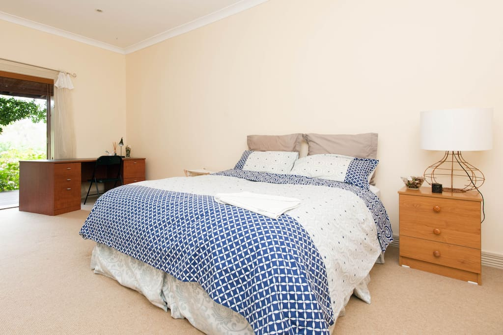 Larger bedroom with external private access