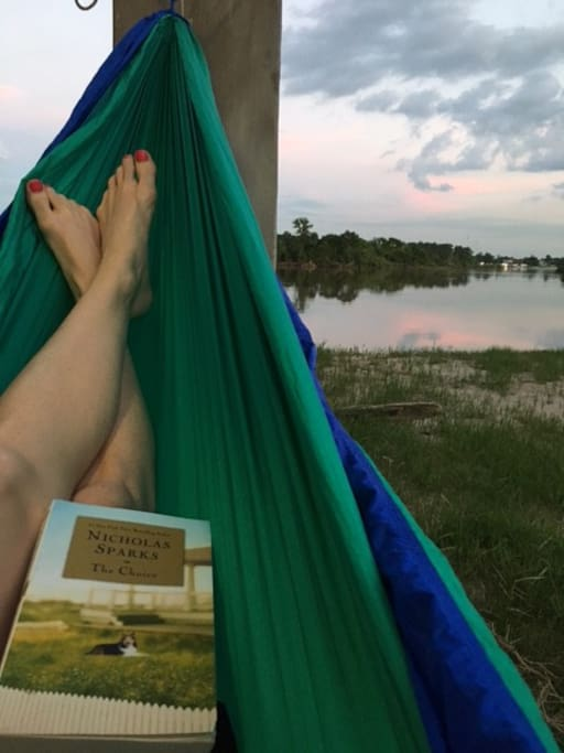 Come relax by the water with your favorite book!
