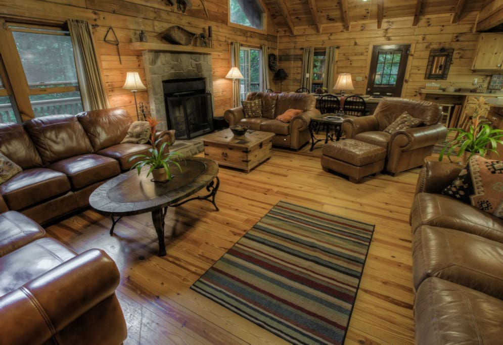 Walch Creekside Log Cabin Smoky Mnt Cabins For Rent In