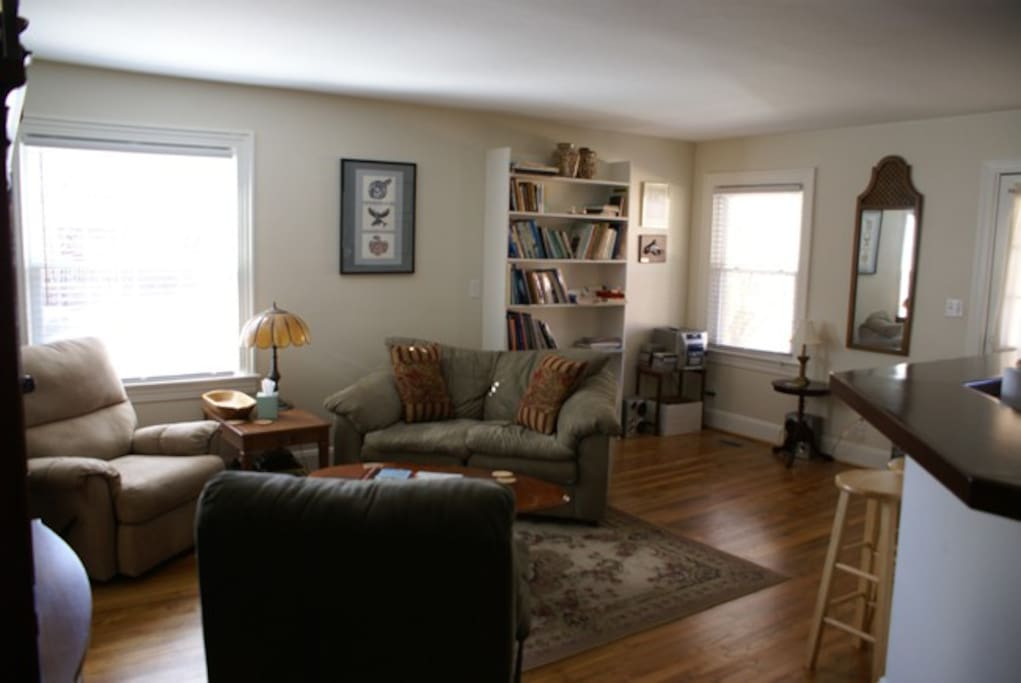 The living room, comfortable and cozy