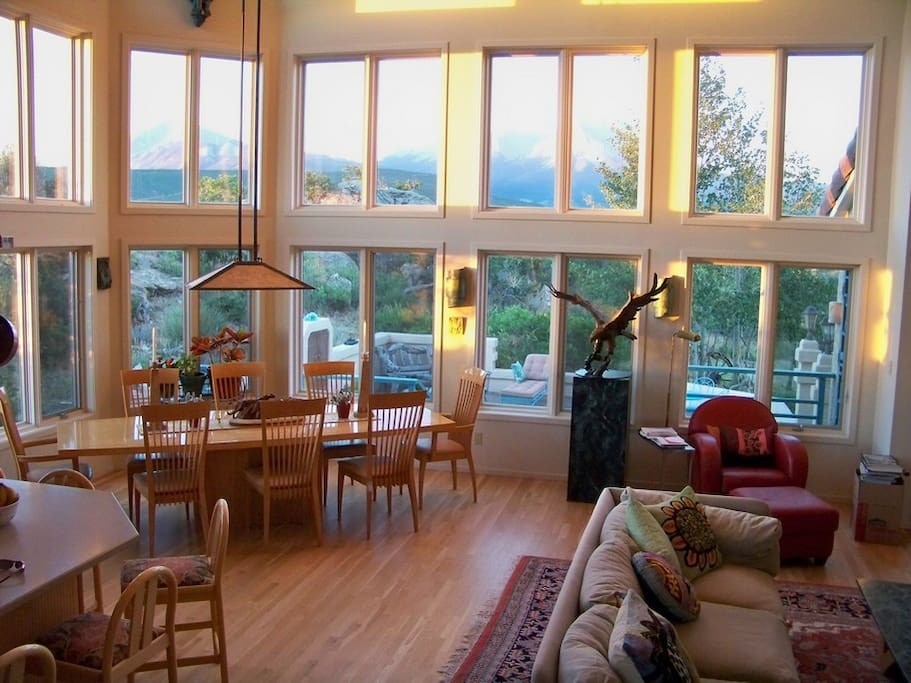 Elegant Great Room with stunning mountain vistas