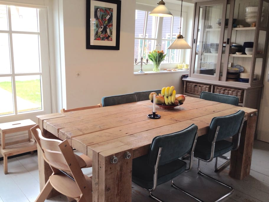 Family dining table in the kitchen area