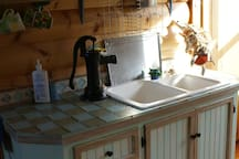 Our kitchen has some unique hot and cold water taps - come and see