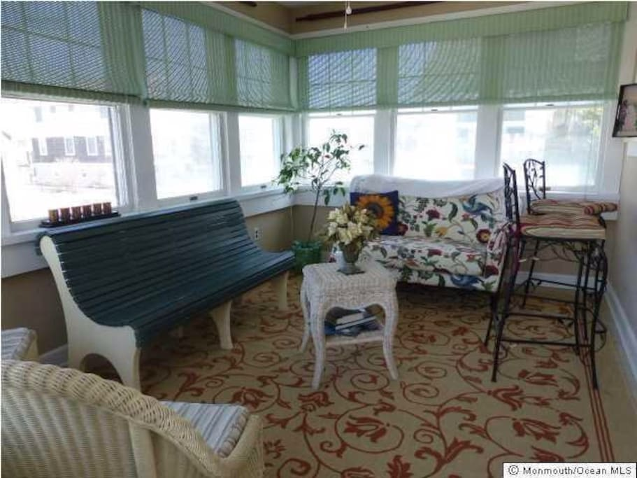 Air conditioned porch with bay views.