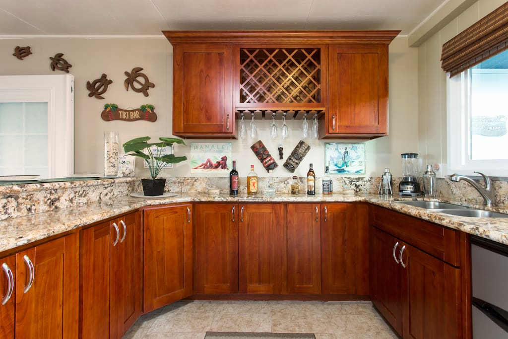 Turtle Cabana: Kitchenette/Bar Bar Refrigerator Only *See Turtle Bungalow for Full Size Kitchen and Refrigerator