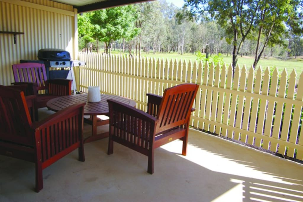 Private verandah with fully equipped BBQ