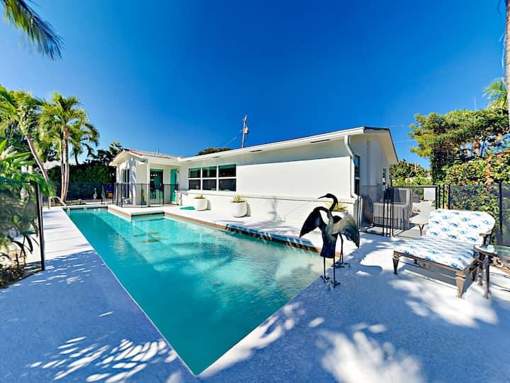 Modern Juno Beach Home w/ Front Yard Pool Oasis