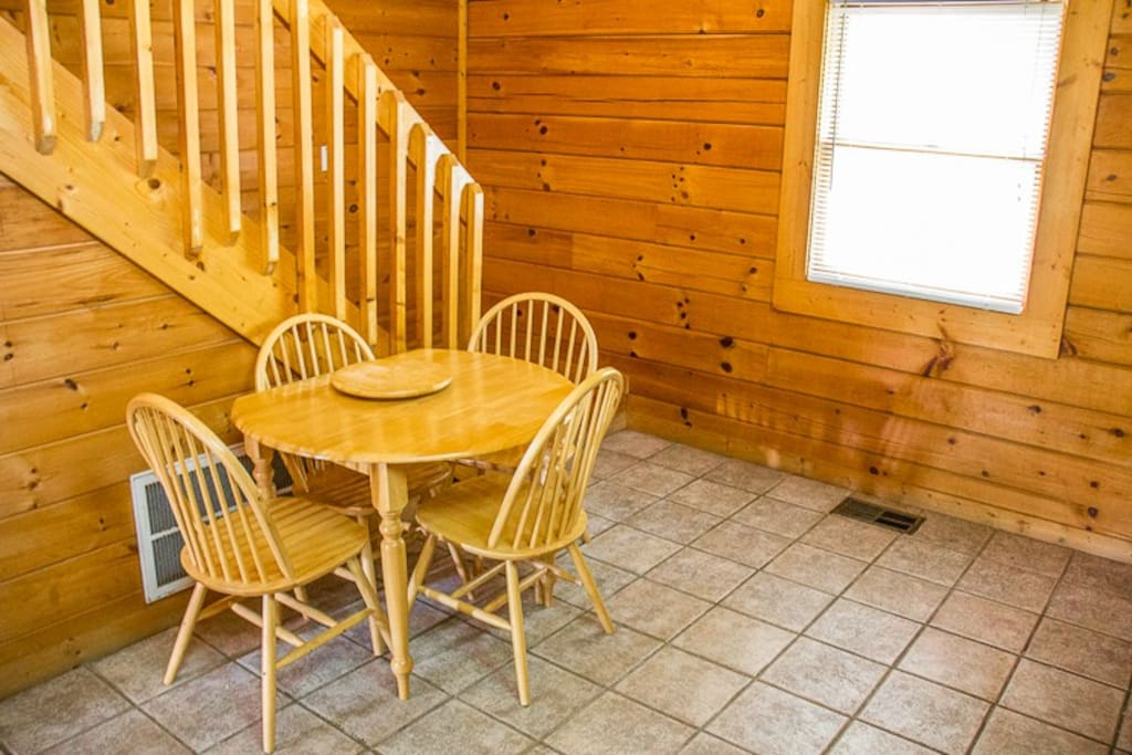 Dining table seats four