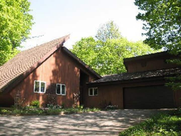 Privacy awaits you,Unique rural home in the woods.