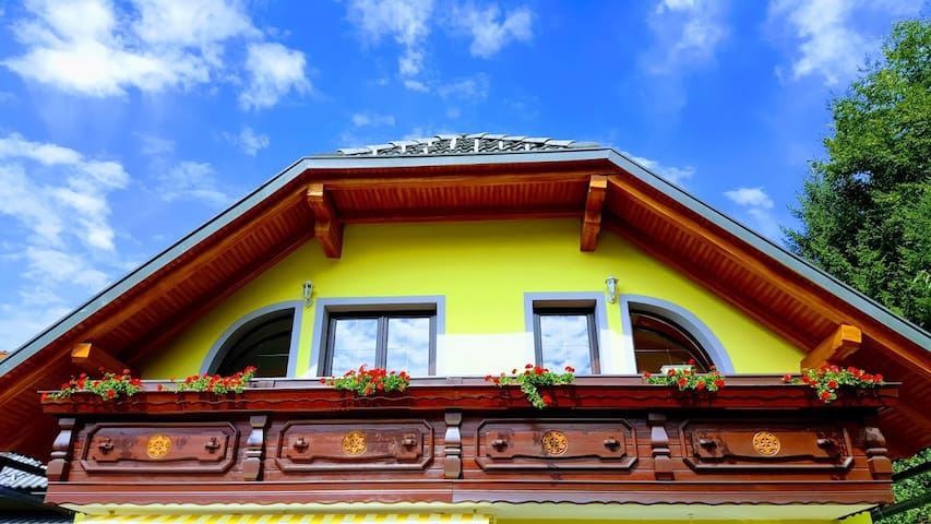 Room, Krn, amidst mountains and forests near Bled