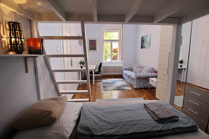 Spacious Room in a Peaceful, Central Apartment