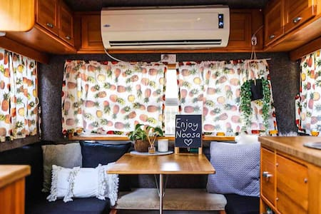 A beautiful getaway in a retro 80's caravan