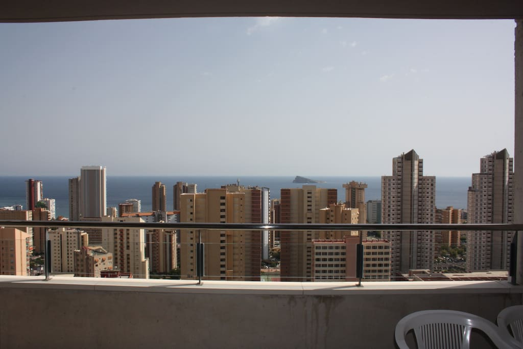 Vistas de la terraza del apartamento
