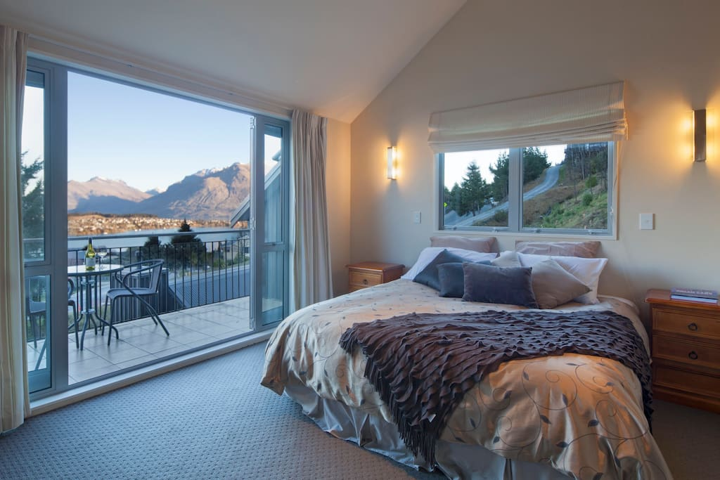 Main bedroom with own balcony and spectacular views