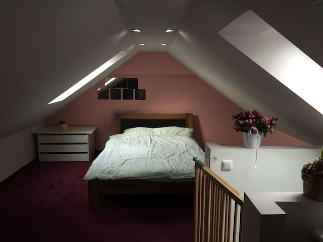 Lovely attic room close to airport - Eching - Apartamento