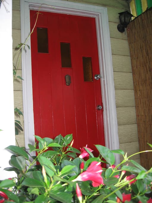 Front Entrance door to the Cottage.