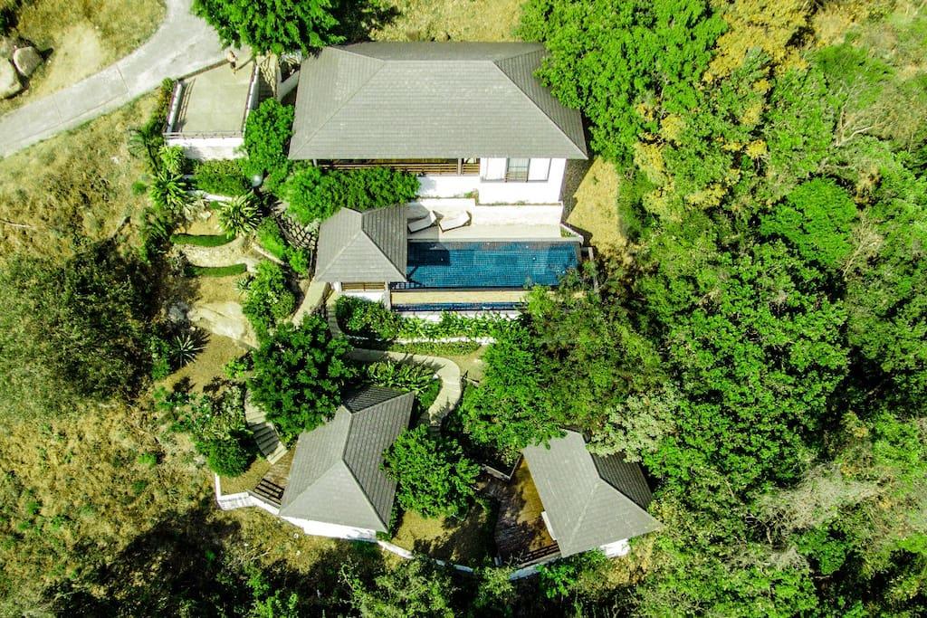 Exterior shot of Sunset Heights: 3 bed luxury villa
