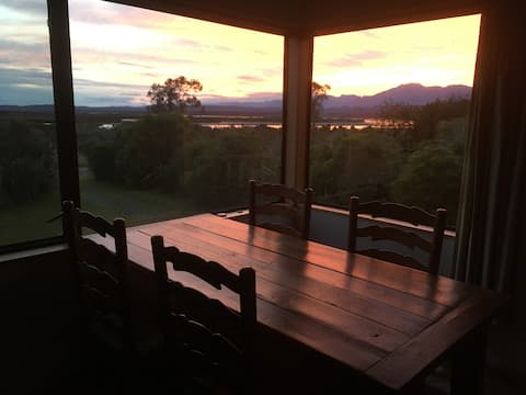 Sunrise from the dinning table
