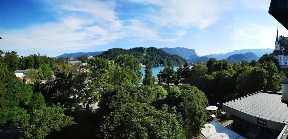 Panorama over lake Bled apartment