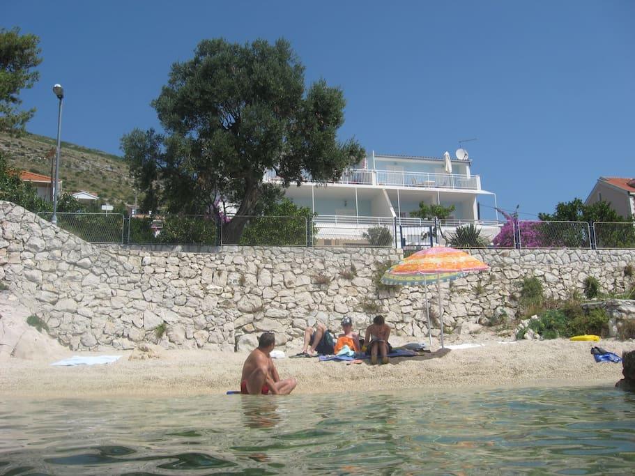 Villa from the sea