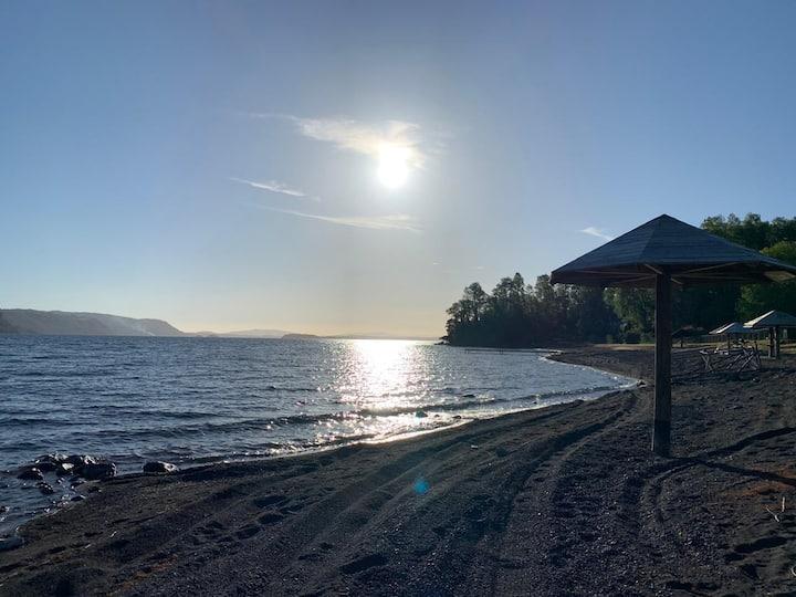 Espectacular Cabaña nueva con acceso al Lago