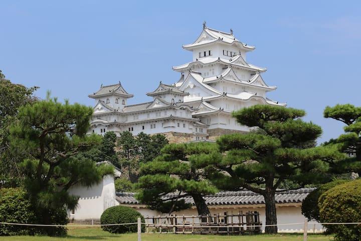 Himeji Castle. 40 min by train.