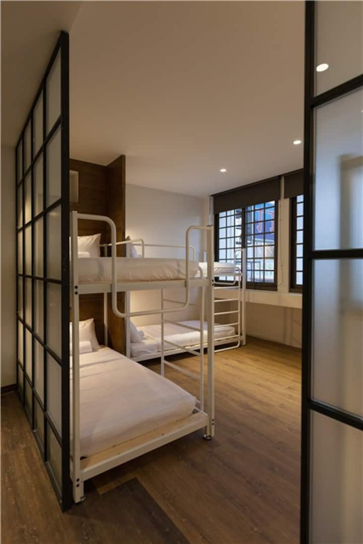 花蓮火車站旁小旅行迷你公寓六人女生房6-BEDS Female DORM