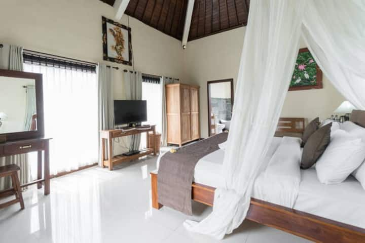 #Suite villa with rice field view @villajj Ubud