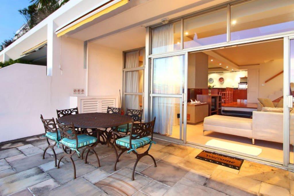 Lower patio.