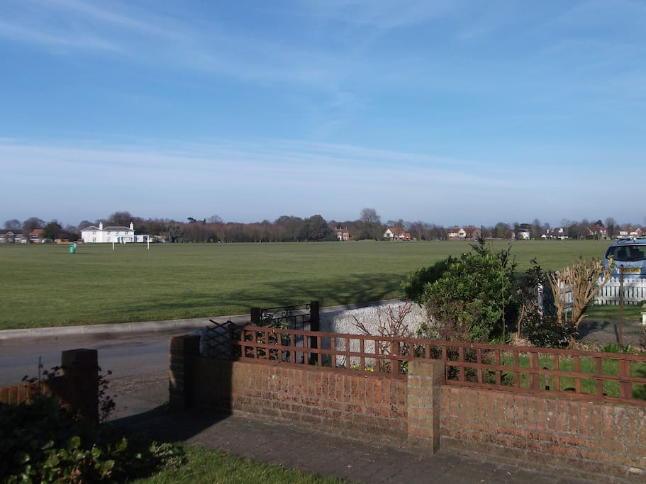 View from the front garden of one of UK's largest village greens!