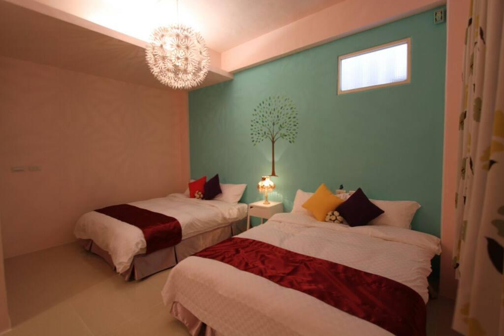 四人房(兩張雙人大床)Quad Room(Two full bed )