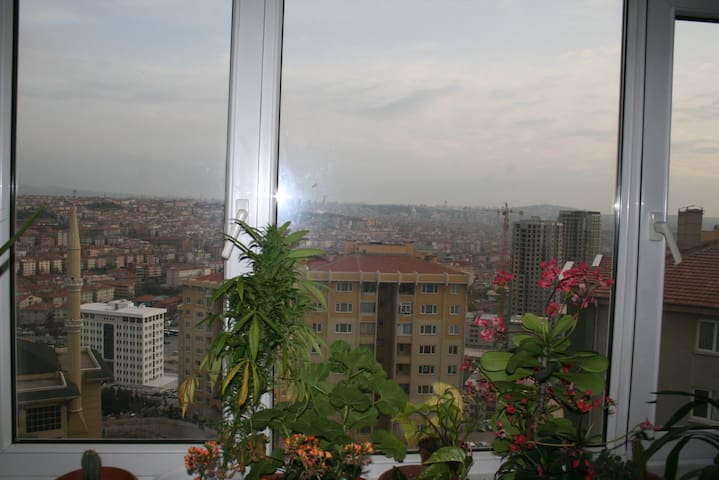 Perfect Ankara view from my house - Altindag  - Apartamento