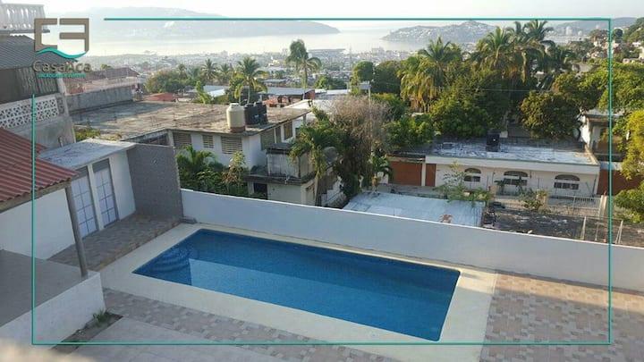 Casa, Alberca & Terraza con vista a la bahía
