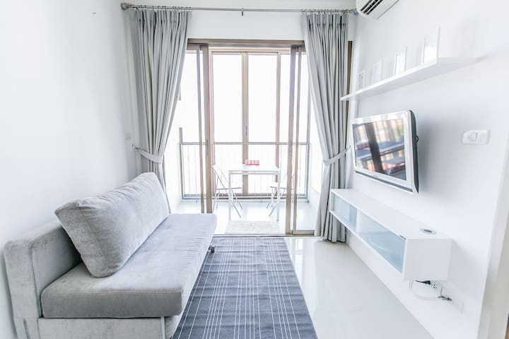 1 bedroom next to skytrain free wifi on floor 19 - Bangna - Daire