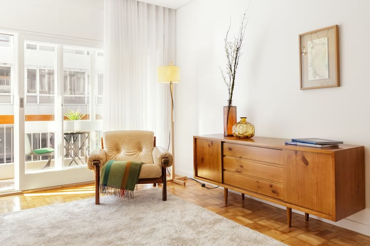 Living room furniture and balcony