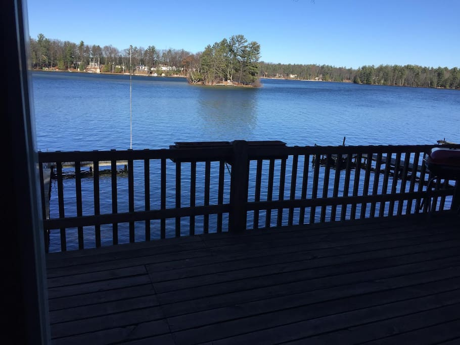 View of Spider Lake from the deck