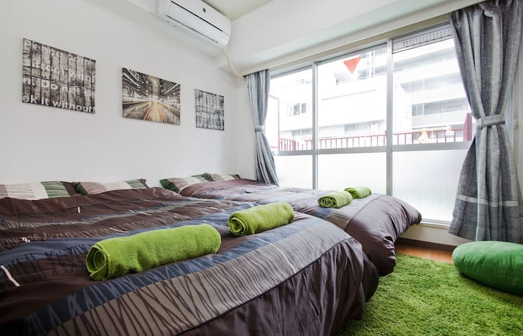 Cozy Room! Walk to the city (Shinsaibashi/Namba) - Osaka - Apartamento