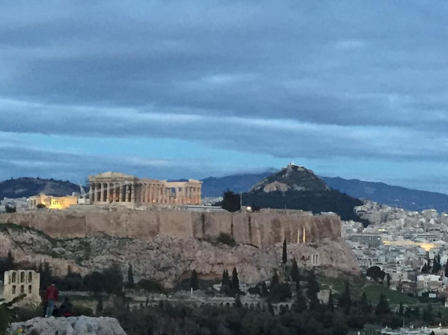Lycabettus Hill and Acropolis