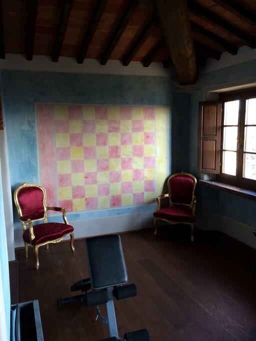 Casa la loggia panoramic lucignano chambres d 39 h tes for Chambre red wine