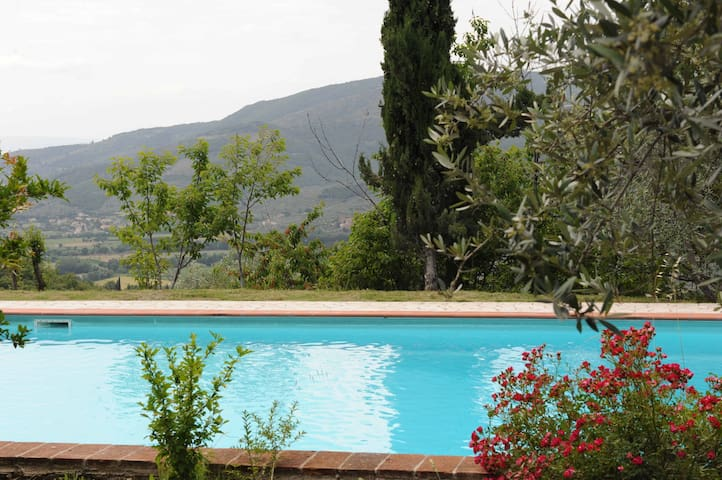 Family holiday cottage Tuscany with Pool ,.. - Castiglion Fiorentino - Casa