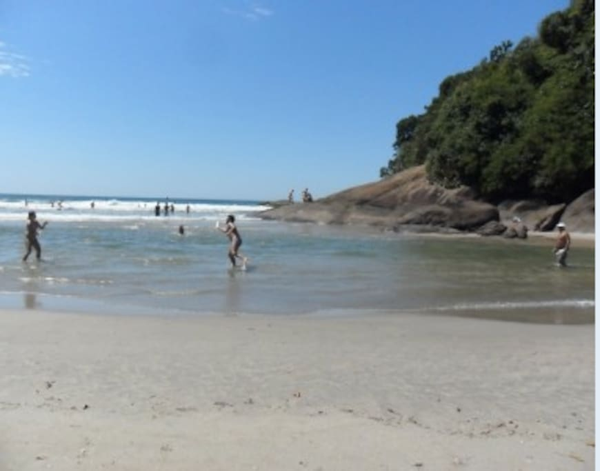 Canto de Itamambuca - vista do mar (Itamambuca beach)
