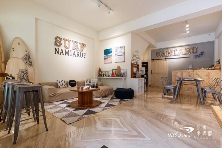 有浪嗎海浪工作室Namiarusurfstudio 海浪儉約四人房