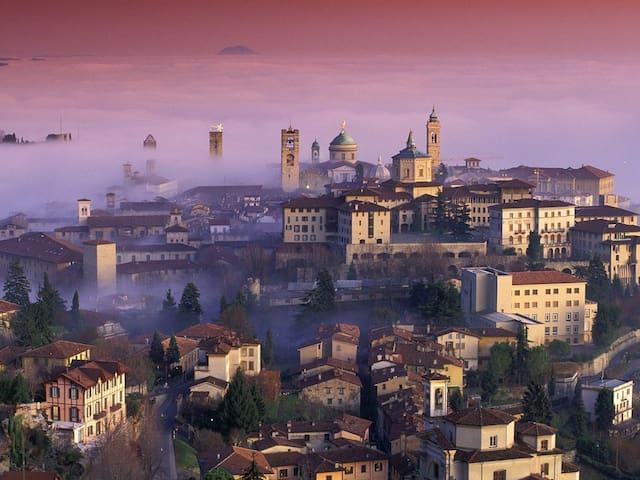 Ampio quadrilocale centro Bergamo  - Bergamo - Apartamento